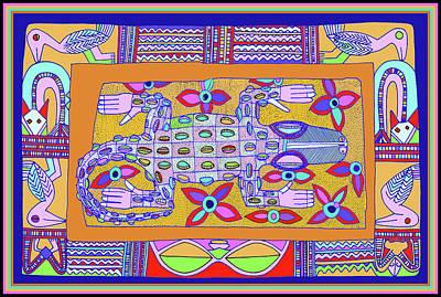 Poster featuring the digital art African Croc Beach Bum by Vagabond Folk Art - Virginia Vivier
