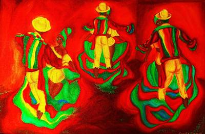 African Dancers Poster