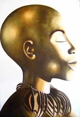 African Elegance Sepia - Original Artwork Poster