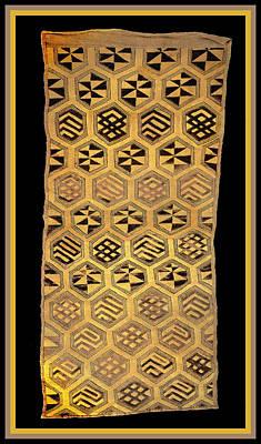 Poster featuring the digital art African Kuba Cloth Print by Vagabond Folk Art - Virginia Vivier