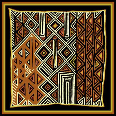 Poster featuring the digital art African Kuba View From Earth by Vagabond Folk Art - Virginia Vivier