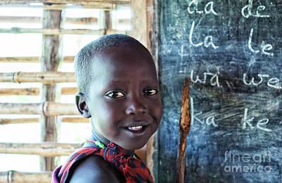 Maasai School Child Poster