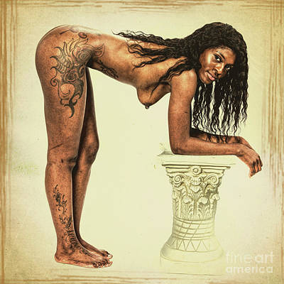 African Nude Model 1723. 66 Poster