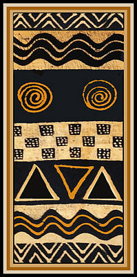 African Primordial Spirits - 2 Poster by Vagabond Folk Art - Virginia Vivier