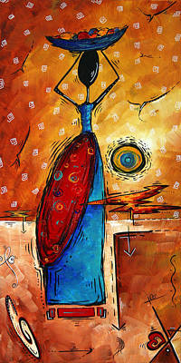 African Queen Original Madart Painting Poster by Megan Duncanson