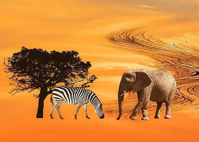 African Safari Poster by Sharon Lisa Clarke
