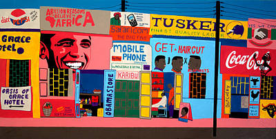 African Shopping Mall Poster