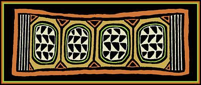 Poster featuring the digital art African Tribal Textile by Vagabond Folk Art - Virginia Vivier