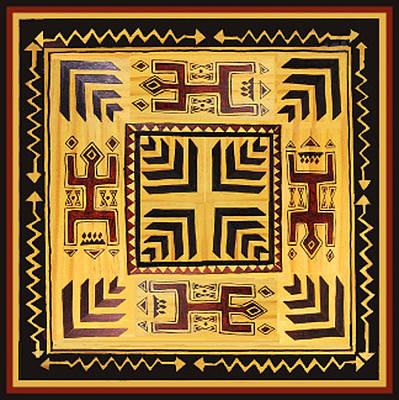 Poster featuring the digital art African Tribal Spirits by Vagabond Folk Art - Virginia Vivier