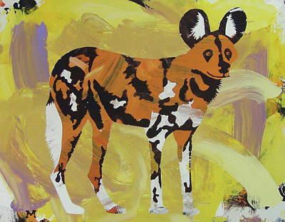 Poster featuring the painting African Wild Dog by Candace Shrope