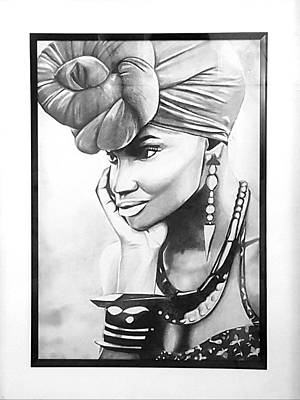 African Woman Poster by Nicole Khoury