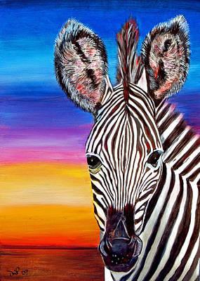 African Zebra Aura Poster
