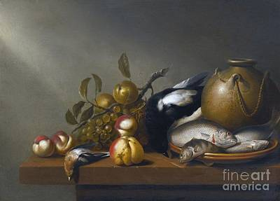 After 1656 Still Life Of Fruit Poster by MotionAge Designs