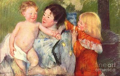 After The Bath Poster by Cassatt