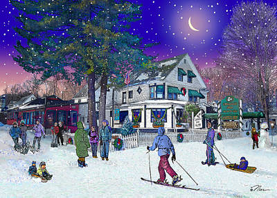 After The Storm At Woodstock Inn Poster by Nancy Griswold