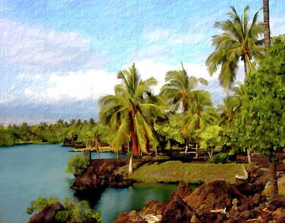Afternoon At Mauna Lani Hawaii Poster by Kurt Van Wagner