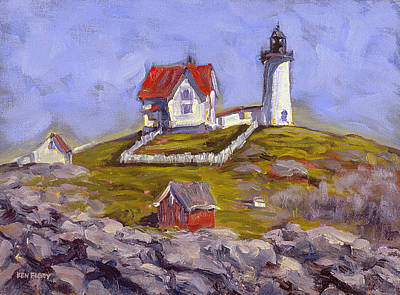 Afternoon At Nubble Light Poster