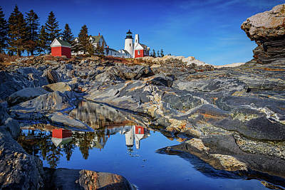 Afternoon At Pemaquid Point Poster