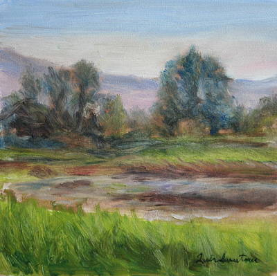 Afternoon At Sauvie Island Wildlife Viewpoint Poster