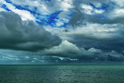 Poster featuring the photograph Afternoon Clouds In Key West, Florida by Bob Slitzan