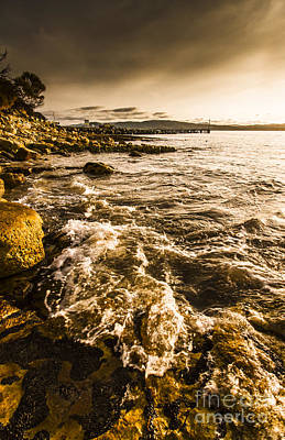 Afternoon Rocky Coast  Poster by Jorgo Photography - Wall Art Gallery