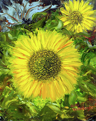 Afternoon Sunflowers Poster