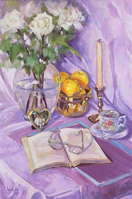 Afternoon Tea Poster by Laura Lee Zanghetti