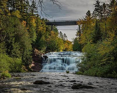 Agate Falls With Railroad Bridge Poster