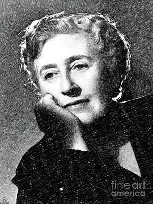 Agatha Christie, Literary Legend By Js Poster