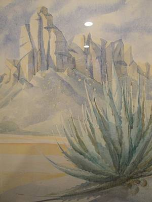 Poster featuring the painting Agave by Steven Holder