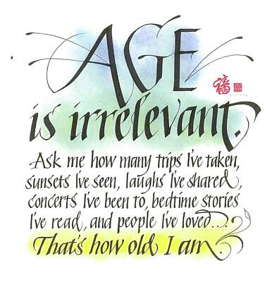 Age Is Irrelevant Poster
