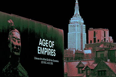 Age Of Empires - New York Poster by Art America Gallery Peter Potter