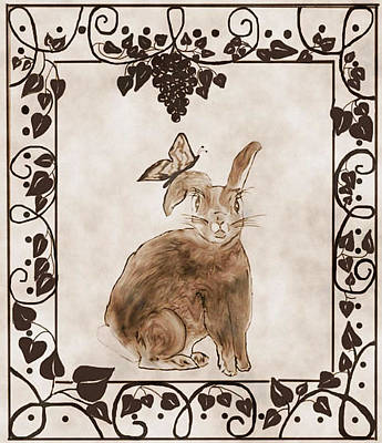 Aged Bunny Poster