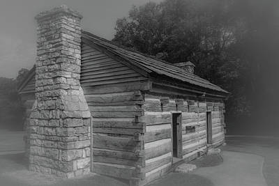 Poster featuring the photograph Aged Cabin At The Hermitage by James L Bartlett