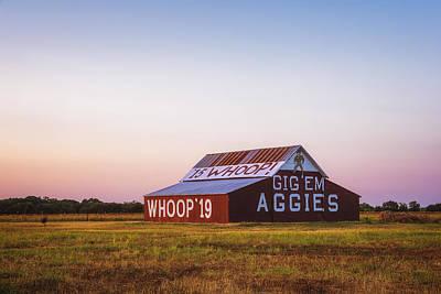Aggie Barn Sunrise 2015 Poster by Joan Carroll