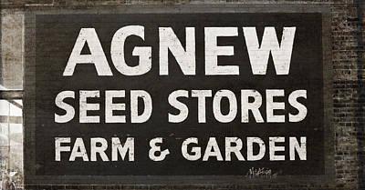 Agnew Seeds Roanoke Virginia Poster by Teresa Mucha