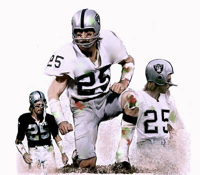 Poster featuring the painting Agony Of Greatness, Vii  Fred Biletnikoff  by Iconic Images Art Gallery David Pucciarelli