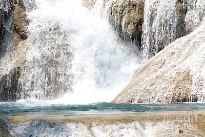 Agua Azul Waterfall Chiapas Mexico Poster by Linda Queally