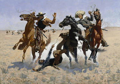 Aiding A Comrade  Poster by Frederic Remington