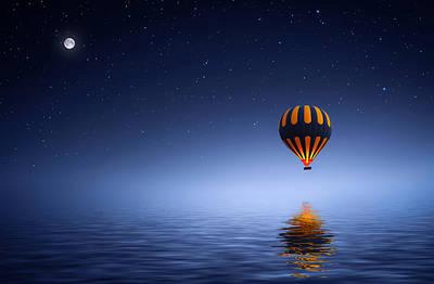 Air Ballon Poster by Bess Hamiti