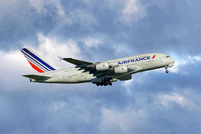 Air France Airbus A380-861 118 Poster