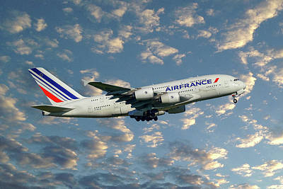 Air France Airbus A380-861 119 Poster