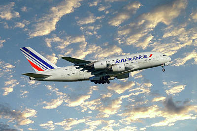 Air France Airbus A380-861 120 Poster