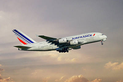 Air France Airbus A380-861 121 Poster