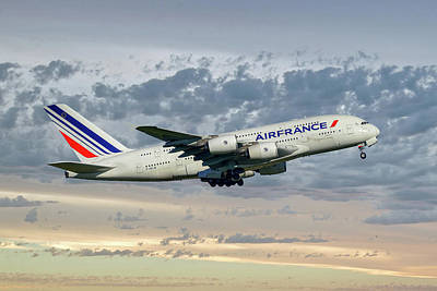 Air France Airbus A380-861 114 Poster
