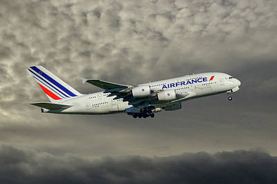 Air France Airbus A380-861 116 Poster