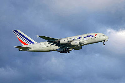 Air France Airbus A380-861 117 Poster