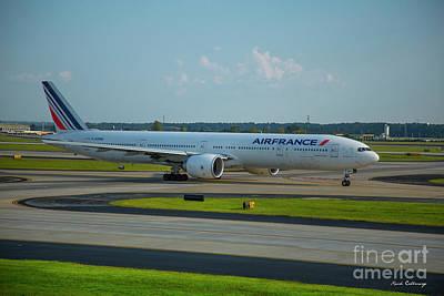 Air France Boeing 777-328er F-gznh Departing Hartsfield-jackson Atlanta International Airport Art Poster