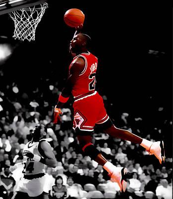 Air Jordan Flight Path Poster by Brian Reaves