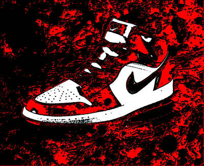 Air Jordan I Notorious Poster by Brian Reaves